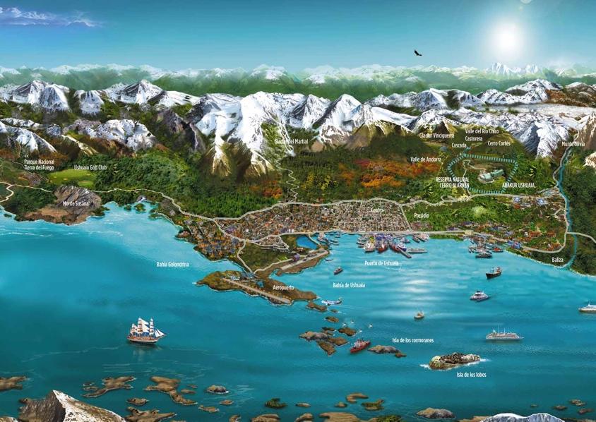 Argentina Map Of Ushuaia - Argentina map ushuaia