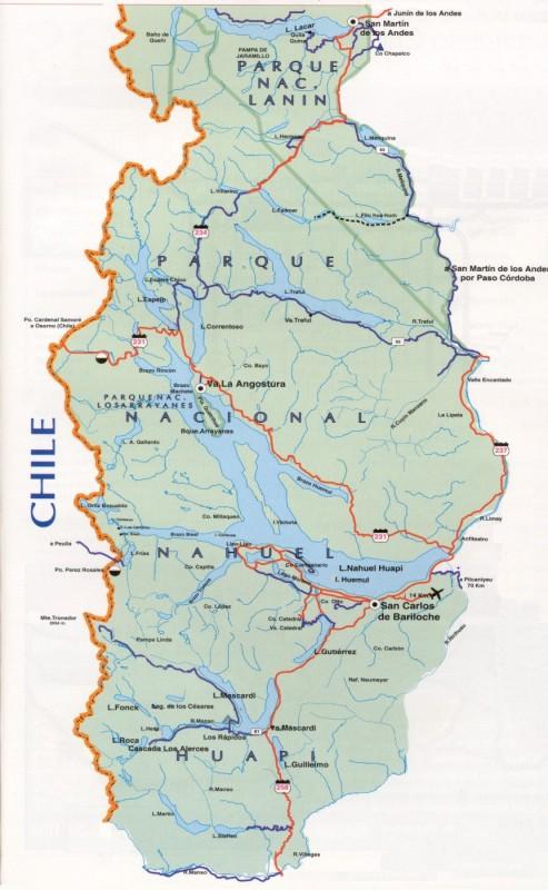 Argentina Map BarilocheSan Martin De Los Andes - Argentina map bariloche