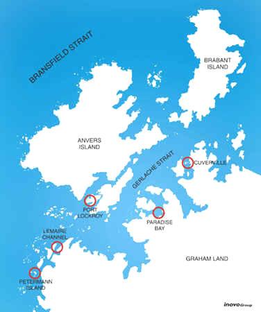 Antarctic XXI - Port Lockroy Map