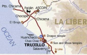 Chan Chan Peru Map.Peru Trujillo Chan Chan